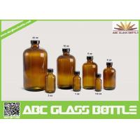 Quality 20/410 Neck 120ml Amber Boston Round Bottle With Phenolic Cap wholesale