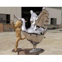 Quality Contemporary Outdoor Metal Statues Public Decorative Stainless Steel Animal Sculpture wholesale