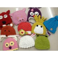 Quality Mixed Colors Kids Cable Knit Pom Pom Beanie Hand Printing / Embr Printing Method wholesale
