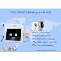 Quality 2 In 1 Face Lift 3D HIFU Machine High Intensity Focused Ultrasound 110V - 220V Voltage wholesale