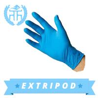 Quality blue medical nitrile disposable glove wholesale