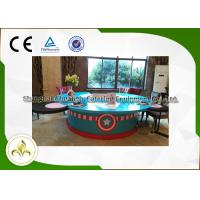 Quality Painted Wood Table Circle Japanese Dining Grill , Outdoor / Indoor Teppanyaki Grill wholesale