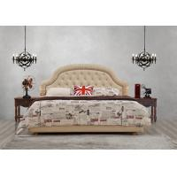 Cheap Good quality Gery Fabric Upholstered Headboard Queen Bed Leisure Furniture for American design Apartment Bedroom set for sale
