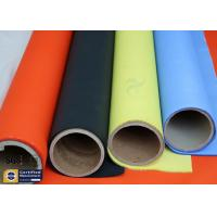 Quality Orange Acrylic Coated Fibreglass Fabric 500℉ 0.2MM 260G Chemical Flame Resistant wholesale