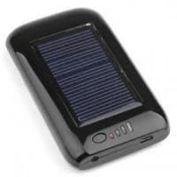 Quality Black 5.5V / 120ma 2600MAH Rechargeable Digital solar battery chargers with LED Lamp wholesale