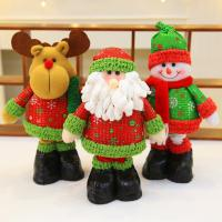 Cheap 45cm Green Hat Red Scarf Animated Plush Christmas Toys Cute Soft Snow Man for sale