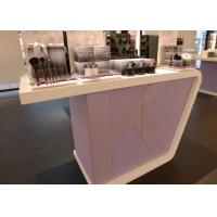 Quality Supermarket Fashion Makeup Display Cabinet Cosmetic Retail Counters Design wholesale