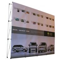 Quality Easy Installation Trade Show Backdrop Displays Folding Banner Stand Smooth Surface wholesale