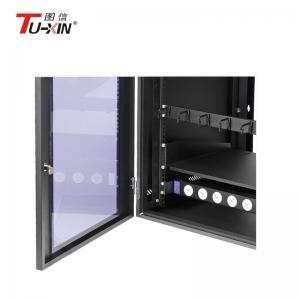 China Wall Mount Network Rack Enclosure , Dustproof 6u Computer Server Cabinet on sale