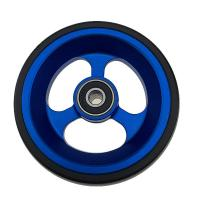 Quality Sport Wheelchairs Front Wheel 100mm 125MM PU On Aluminum Casting Core wholesale