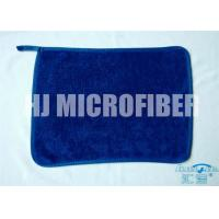 Quality Blue 30 * 40  microfiber dish towels , weft twist Ultra Thick Plush Fleece cleaning microfiber cloth wholesale