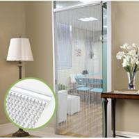 Quality Silver Aluminium Chain Link Curtain Fly Screen Strip Blinds Bug Blind Keeps out Flies Wasps Pest Insect & Bees, 90x215cm wholesale