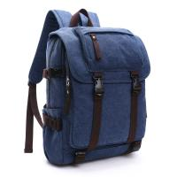 Canvas Large Capacity School Backpack , Patchwork Backpacks For College Students