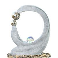 Quality Cast Stone Outdoor Fountains , Contemporary Garden Fountains With Marble Color wholesale
