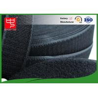 Quality 50Mm Wide Black Hook And Loop Tape / Male And Female Hook And Loop Roll Fastening wholesale