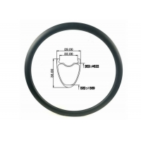 Quality Internal 22MM Wheels Rims 35mm Road Bicycle 700c Tubeless Carbon Rim Suppliers wholesale