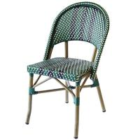 Quality Deep Green 150kg Weight Capacity French Bistro Dining Chairs wholesale