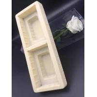 plastic flocking blister packaging beige tray in good quality PVC material 11*34.6*6cm for packaging wine bottle