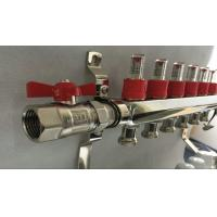 Quality Slvier Heating Radiant Floor Manifold For Balancing Underfloor Heating wholesale