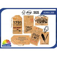 Kraft Paper Board Packaging Accessories Printed apparel hang tags Swing Tickets