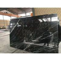 Cheap Negro Marquina Black Marble Slab And Tiles Bathroom Vanitytops For Residential for sale