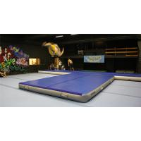 China Double Wall Fabric Material Inflatable Crash Mat Inflatable Gym Equipment 12*6m on sale