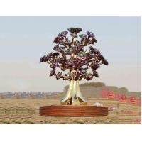 Quality Painted Stainless Steel Tree Sculpture With Smooth Surface For City Decoration wholesale
