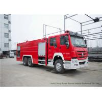 Quality Howo Heavy Duty Rescue Fire Truck With Fire Fighting Equipments Diesel Fuel Type wholesale