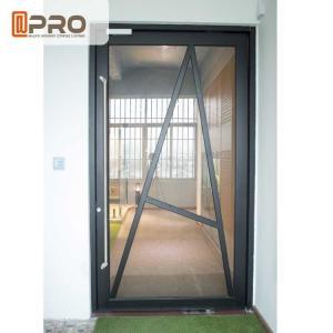 China Tempered Glass Pivot Front Door , Aluminium Contemporary Entrance Doors pivot Glass door Glass pivot door pivot glass do on sale