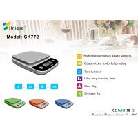 CK772B Lightweight Digital Kitchen/Food Scale w/Plastic-Covered Buttons - Ounce, Millilite