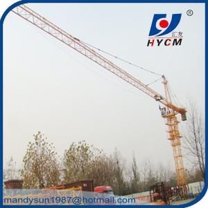 Quality 8 ton 60m Jib Hammerhead Tower Crane Overhead Construction Equipment QTZ6010 wholesale