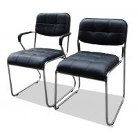 Buy cheap Black Computer Office Furniture Chairs Synthetic Leather Metal Frame Comfortable product