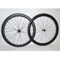 Quality Tubular Tyre Carbon Wheelset 700c , Carbon Cyclocross Wheels With DT Swiss 350S Hub wholesale