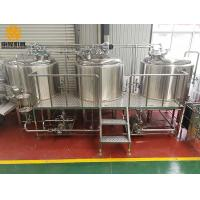 Buy cheap three vessels professional brewing equipment 1000L combination brewhouse with 6 from wholesalers