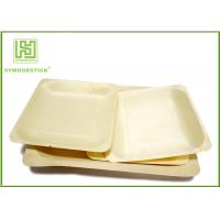 Quality 3.5 Inch Wooden Biodegradable Plates , Small Square Dinner Plates For Dessert wholesale