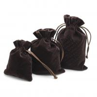 China Luxury Suede Drawstring Jewelry Pouch Pantone Color With Embroidery Logo on sale