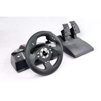 Big Digital / Analog PS2 / PS3 Video Game Steering Wheel And Pedals