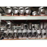 Quality SS Pipe Fittings 1/2'' - 24''  Straight Tee , Butt Weld Stainless Steel Pipe Fittings wholesale