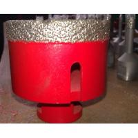 Quality Vacuum Brazed Granite Core Drill Bits / Stone Hole Saw Red Silver Color wholesale