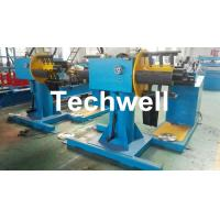Quality Manual / Passive Type Uncoiler Machine With Rotary Double Head Mandrel For Supporting The Coil Strip wholesale