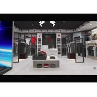 China Casual Wear Shop Clothing Display Case , Brand Unique Design Clothes Hanger Stand on sale