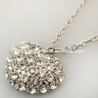 China Imitation Jewelry-Heart Shaped Diamond Fashion Jewelry Necklace (LN147) on sale