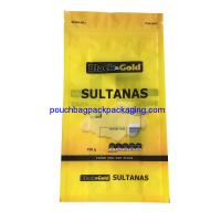 China Sultanas stand up bag with zip lock, stand up pouch for packaging on sale