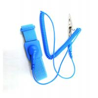 Quality Anti - Allergic Esd Products Wrist Strap Washable Blue Color 10e9 Surface Resistance wholesale