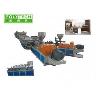 Quality PVC 1220mm WPC Machine / wpc board production line For Furniture Board SJZS80 / 156 wholesale