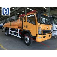 Quality Vacuum Sewer Cleaning Sewage Suction Truck SINOTRUK 4x2 10 - 12m3 wholesale