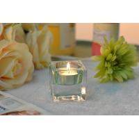 Quality Square Colored Glass Votive Candle Holders , Glass Tealight Holders wholesale