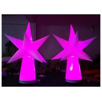 China Star Shape Inflatable Led Light , Inflatable Column For Outdoor Event Decoration on sale