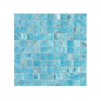 Quality Beautiful Blue Shell Mosaic Tile 12 X 12 Gap Mesh For Swimming Pool wholesale