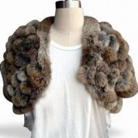 Quality Lamb Fur Shawl with Little Fur Ball and OEM Orders Welcomed wholesale